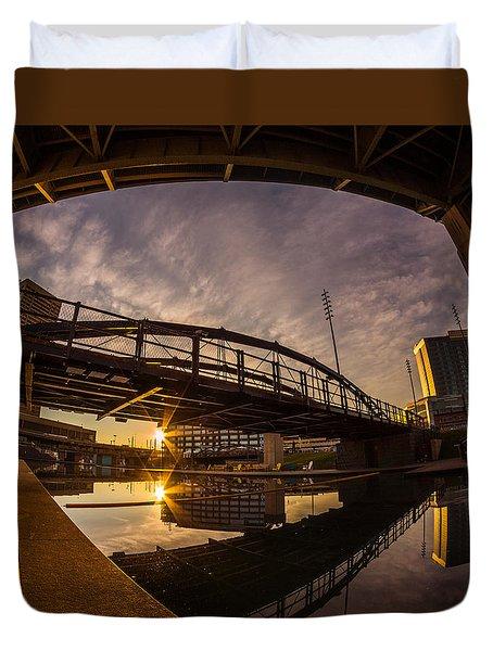 Canalside Dawn No 6 Duvet Cover