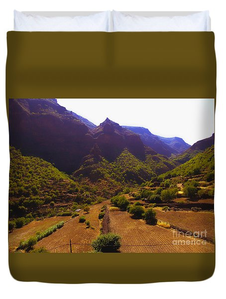 Canarian Agriculture Duvet Cover