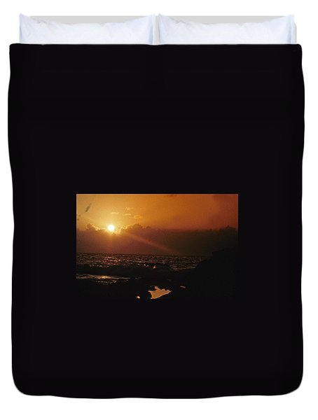 Canary Islands Sunset Duvet Cover