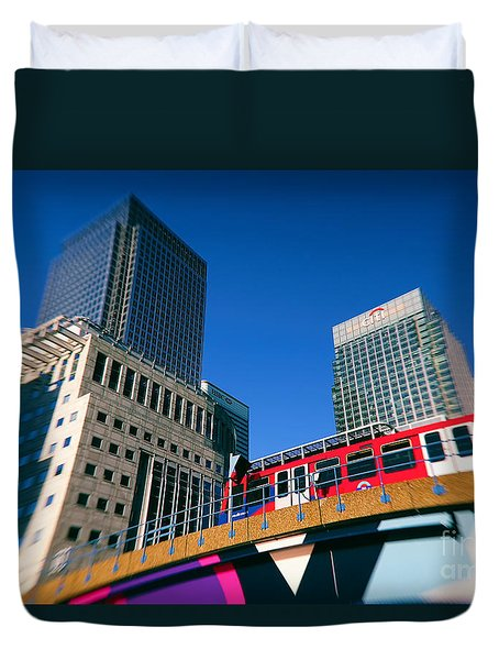 Canary Wharf Commute Duvet Cover