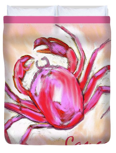 Cancer The Crab Duvet Cover