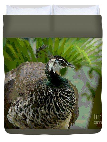 Cancun Peacock Duvet Cover