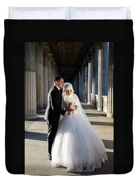 Candid Wedding Shot Duvet Cover