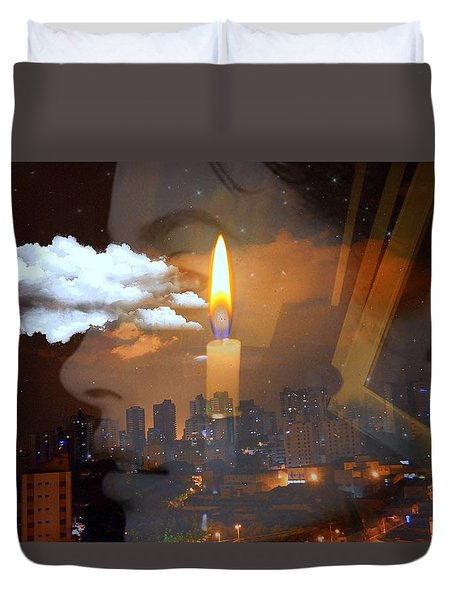 Candle Flame Duvet Cover
