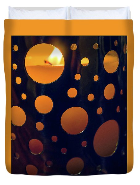 Duvet Cover featuring the photograph Candle Holder by Carlos Caetano