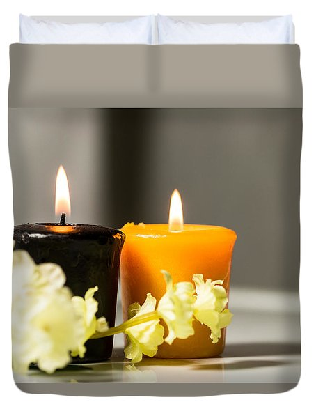 Candle Duvet Cover by Hyuntae Kim