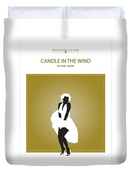 Candle In The Wind -- Elton John Duvet Cover by David Davies