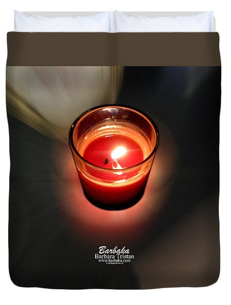 Candle Inspired #1173-3 Duvet Cover by Barbara Tristan