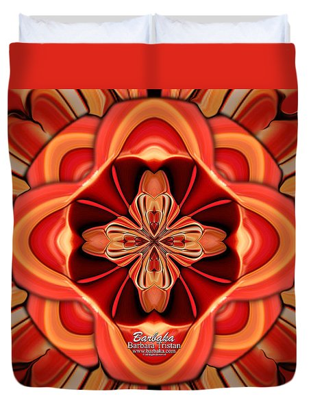 Candle Inspired #1173-4 Duvet Cover by Barbara Tristan