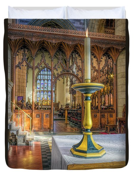Duvet Cover featuring the photograph Candle Of  Prayer by Ian Mitchell