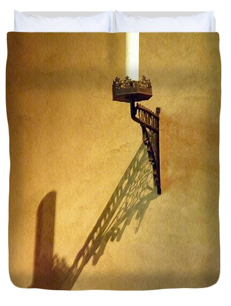 Candle On The Wall Duvet Cover