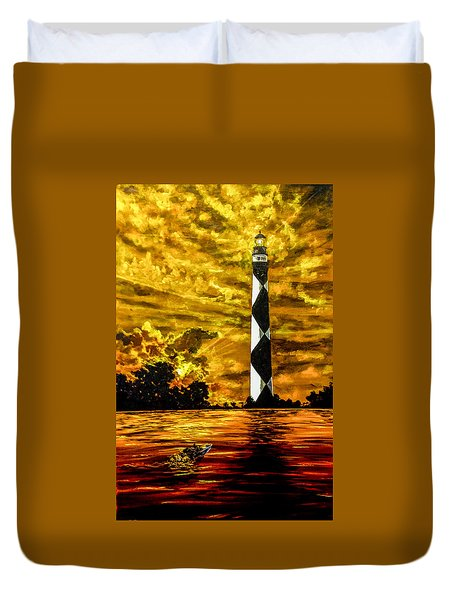 Candle On The Water Duvet Cover