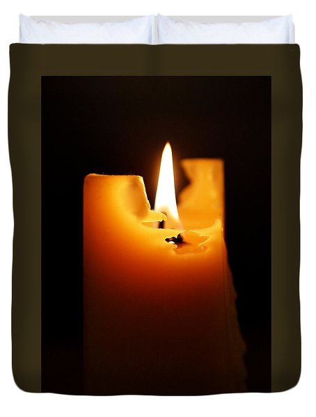 Candlelight Duvet Cover by Rona Black
