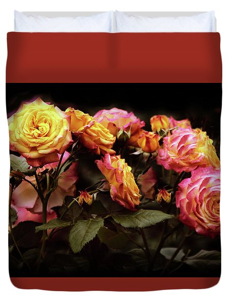 Candlelight Rose  Duvet Cover by Jessica Jenney