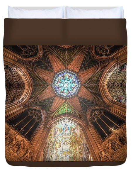 Duvet Cover featuring the photograph Candlemas - Octagon by James Billings
