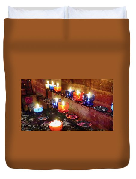 Candles Duvet Cover