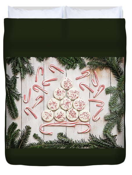 Duvet Cover featuring the photograph Candy Cane Lane by Kim Hojnacki