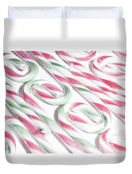 Candy Cane Swirls Duvet Cover