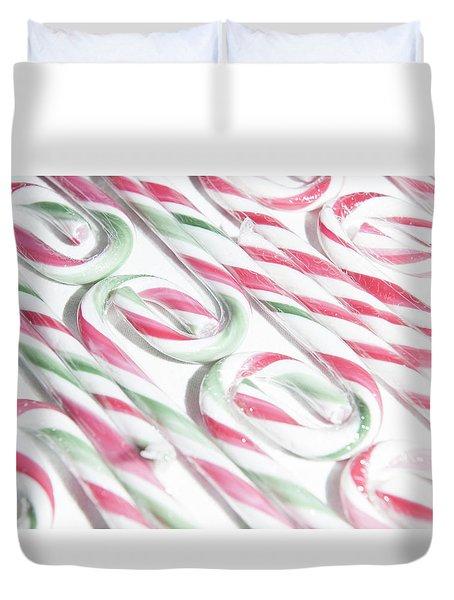 Candy Cane Swirls Duvet Cover