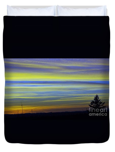 Duvet Cover featuring the photograph Candy Sky 1 by Victor K