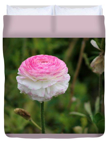 Candy Stripe Ranunculus Duvet Cover