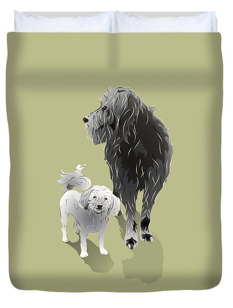 Canine Friendship Duvet Cover by MM Anderson