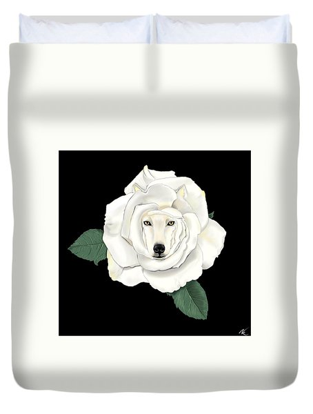Canis Rosa Duvet Cover