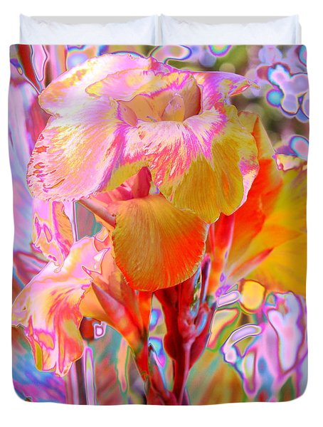 Canna Abstract 3 Duvet Cover