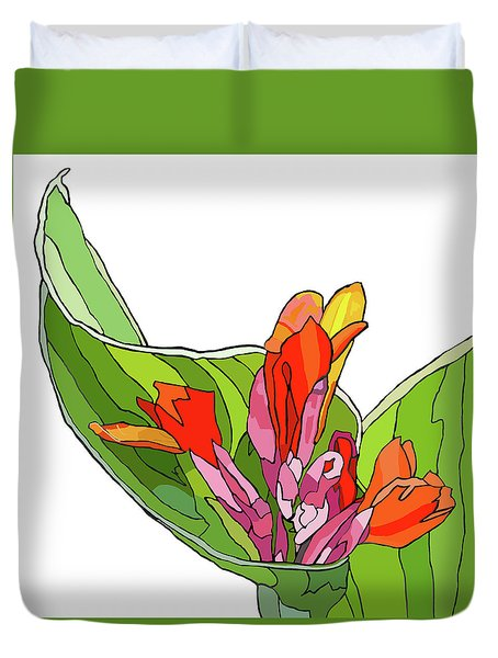 Canna Bud Duvet Cover by Jamie Downs