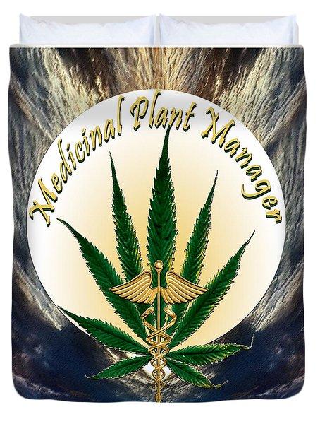 Cannabis Medicinal Plant Duvet Cover
