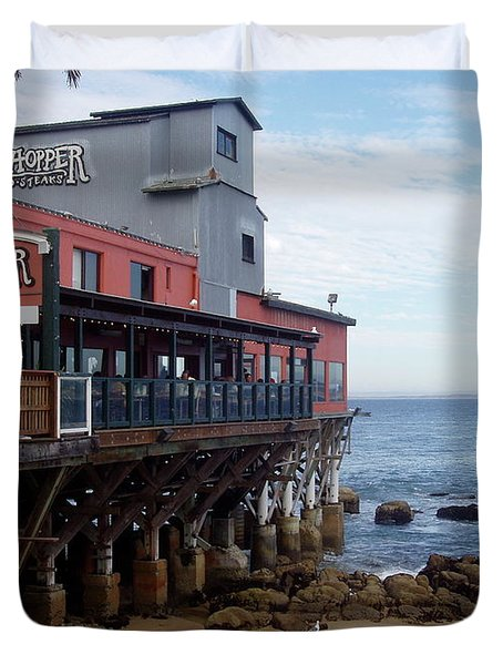 Duvet Cover featuring the photograph Cannery Row by Carol  Bradley