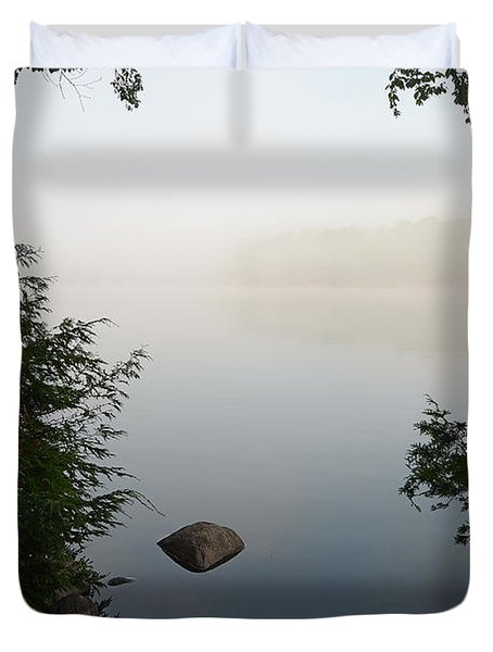 Canning Lake Mist Duvet Cover