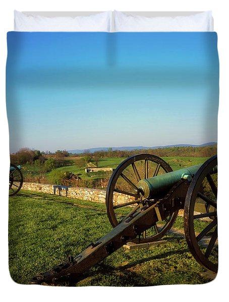 Cannon At Antietam Battleground  Duvet Cover
