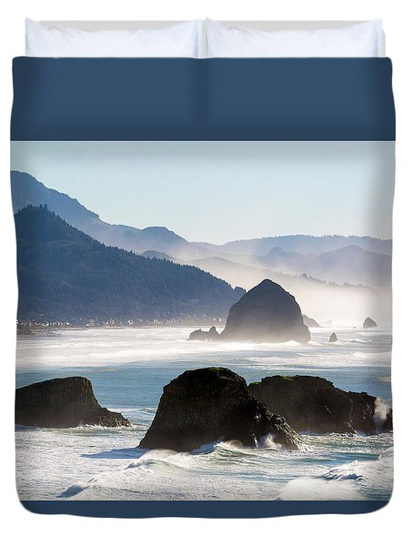 Cannon Beach On The Oregon Coast Duvet Cover