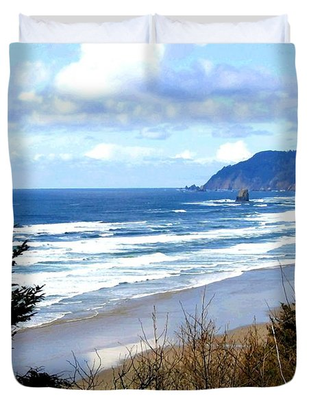 Cannon Beach Vista Duvet Cover by Will Borden