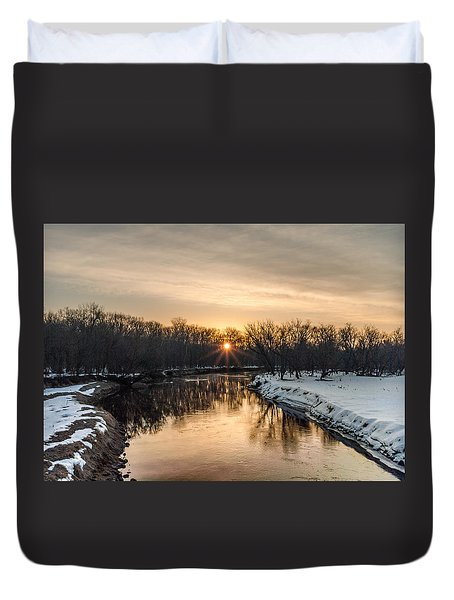 Duvet Cover featuring the photograph Cannon River Sunrise by Dan Traun
