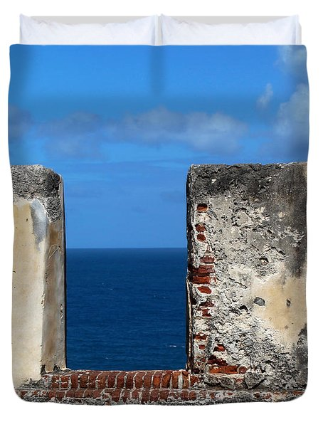 Cannon Wall El Morro Duvet Cover