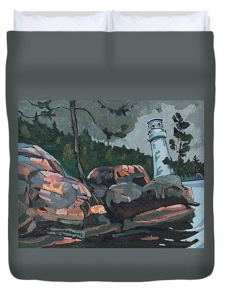 Canoe Lake Light Duvet Cover