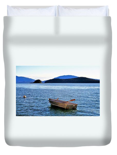 Canoe Duvet Cover by Martin Cline