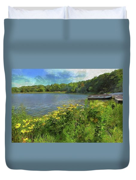 Canoe Number 9 Duvet Cover