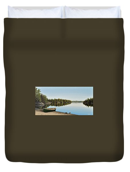 Canoe The Massassauga Duvet Cover