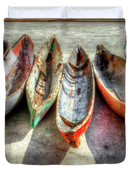 Canoes Duvet Cover