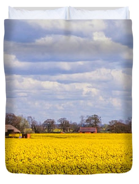 Canola Field Duvet Cover by John Edwards