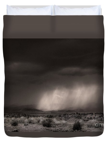 Duvet Cover featuring the photograph Canon City Storm by William Fields