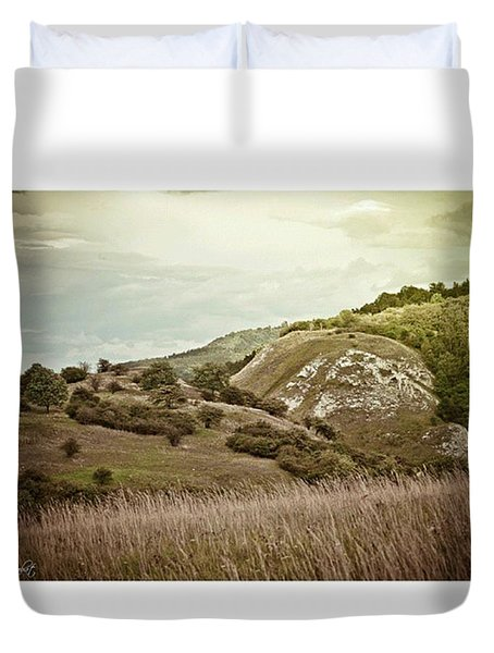 #canon #clouds #sky #kyffhaeuser Duvet Cover by Mandy Tabatt