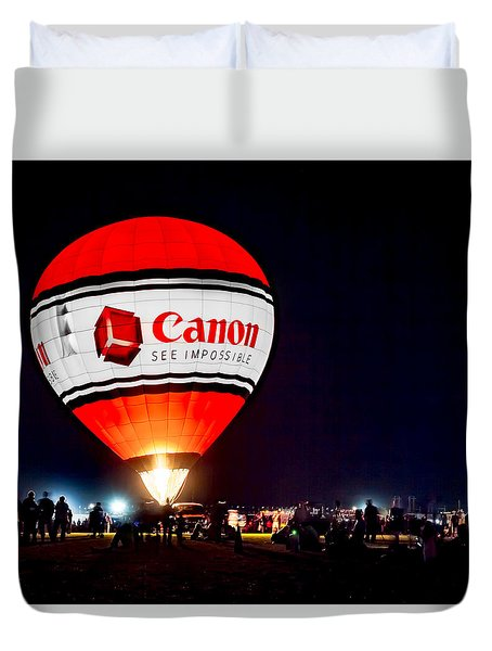 Canon - See Impossible - Hot Air Balloon Duvet Cover