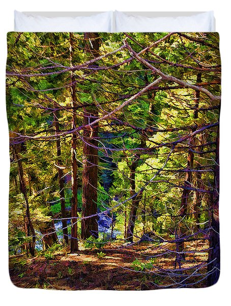 Duvet Cover featuring the photograph Can't See The Forest For The Trees by Nancy Marie Ricketts