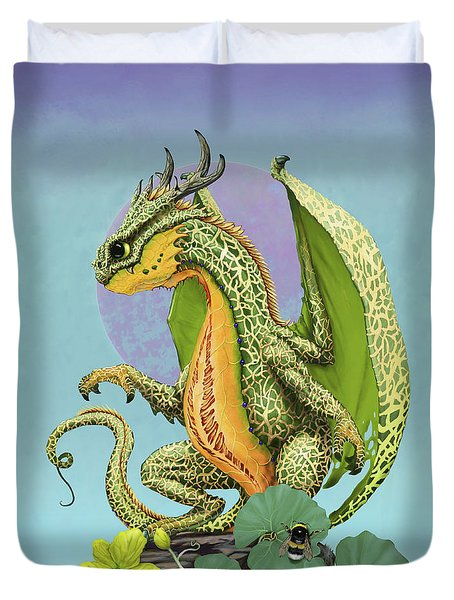 Cantaloupe Dragon Duvet Cover by Stanley Morrison