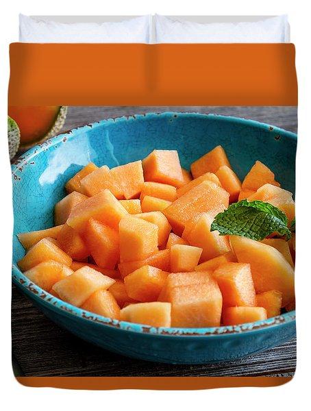 Cantaloupe For Breakfast Duvet Cover