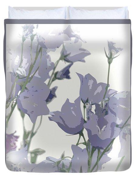 Duvet Cover featuring the photograph Canterbury Bells by Lynn Bolt